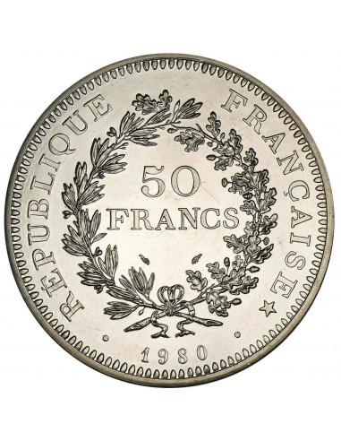 Pièce argent 50 Francs Hercule - acheter des pièces d'argent et d'or sur or-investissement.fr