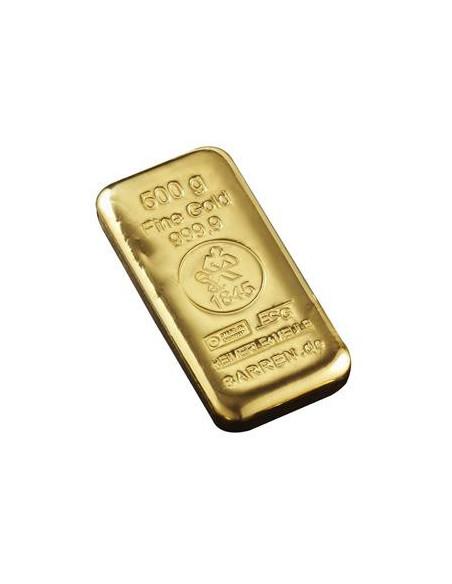 Lingot or 500 grammes, acheter un lingot Or 500 grammes en ligne sur or-investissement.fr