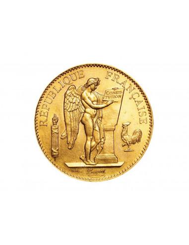 Pièce Or 100 Francs - Génie