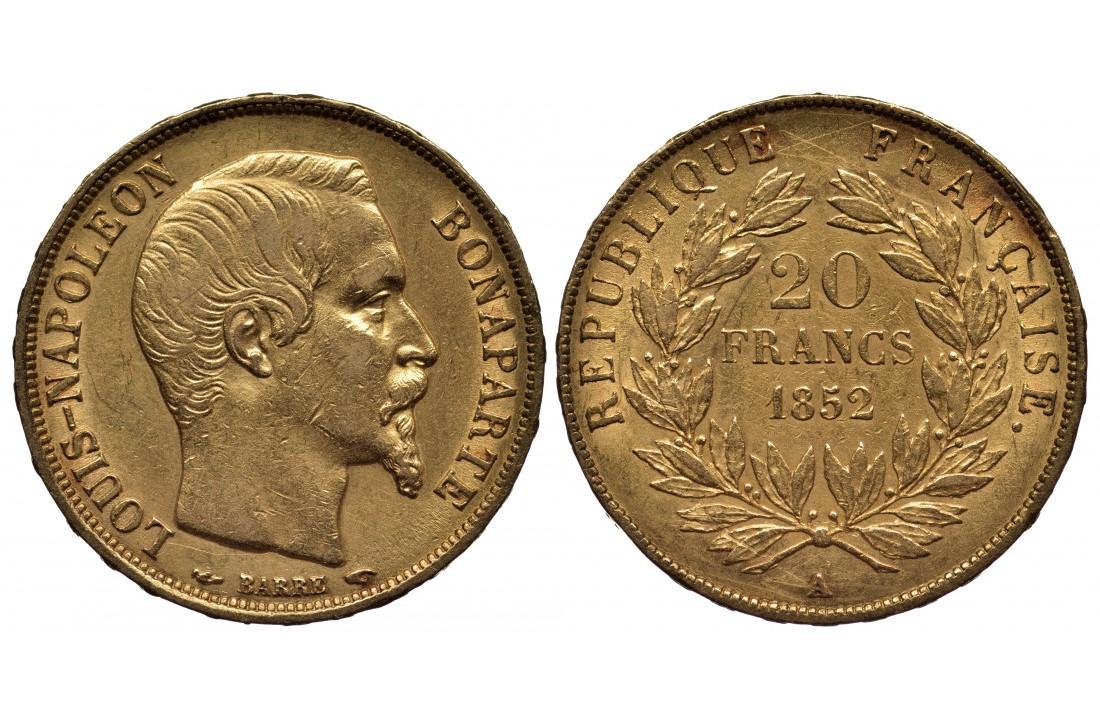 Piece d'or Louis Napoléon Bonaparte - Or Investissement